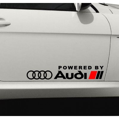 Powered by Audi  стикер,лепенка,емблема за врата