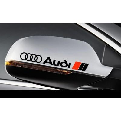 Стикери за странични огледала Ауди, Audi ,А3, А4, A6, A8, RS3, RS4, RS6, TT