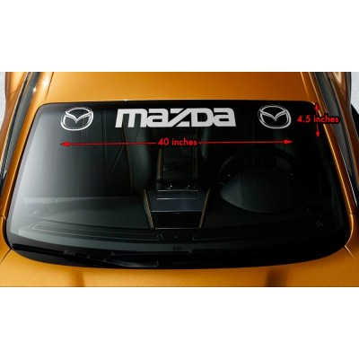 Сенник стикер банер Mazda Лого