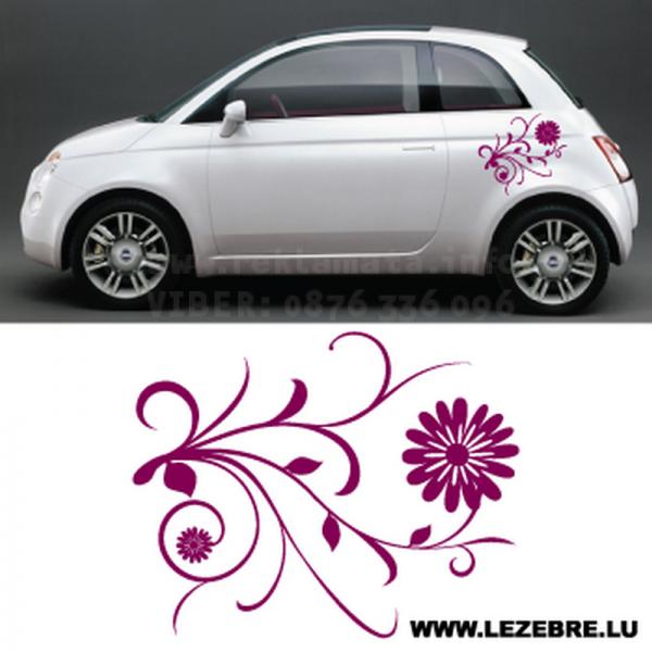 Стикер цвете 01 за кола, автомобил, лепенка