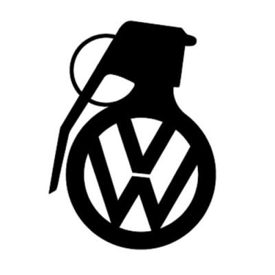 Граната с  лого на VW,  стикер, лепенка подходяща за всички модели на фолксваген VW