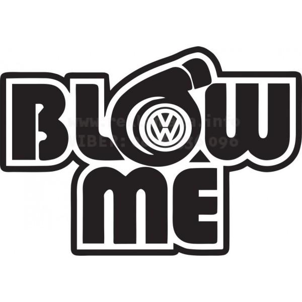 Закачлив стикер за кола , лепенка с логото на VW