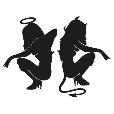 Ангел и Дявол стикер