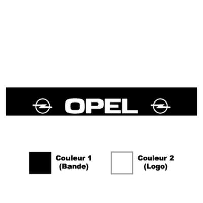 Сенник за Опел, логото на опел, два цвята