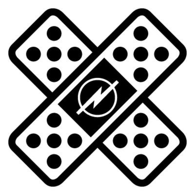 Стикер, лепенка с логото на опел в средата 3 бр