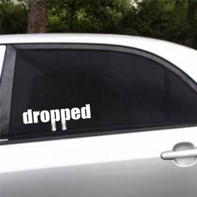 Dropped стикер за страничен, заден прозорец.