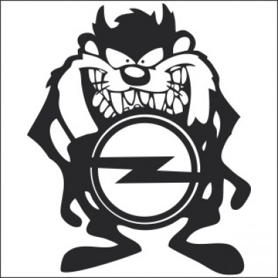 Стикер за опел Тазманийски дявол с лого
