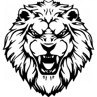 Стикер, лепенка Лъв за преден капак или задно стъкло