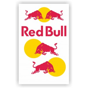 Сет от стикери Ред Бул