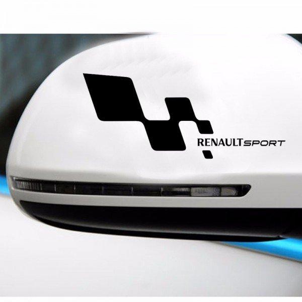 Два броя стикера За странично огледало или друга равна повърхност Рено спорт Renault Sport