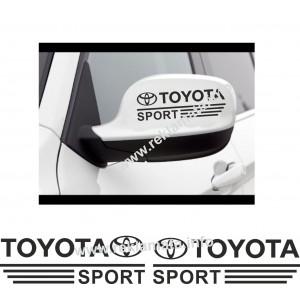 Стикери Тойота спорт за страничните огледала или прозорци
