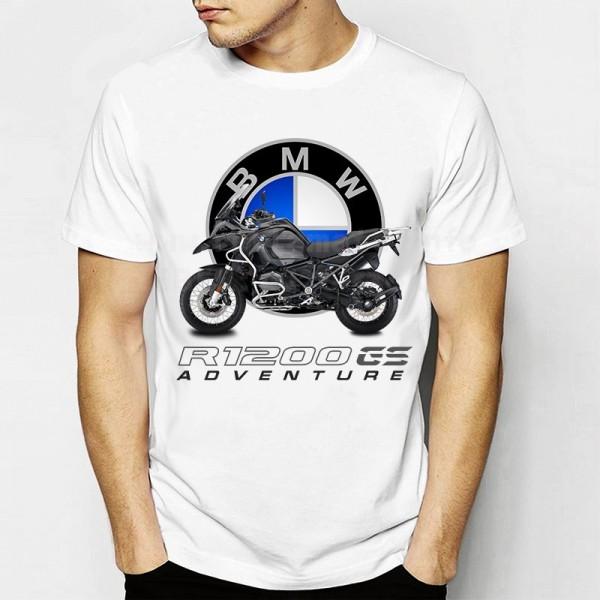 Бяла тениска с Мотор Бмв