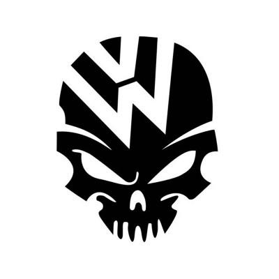 Автомобилен стикер череп с лого на Vw