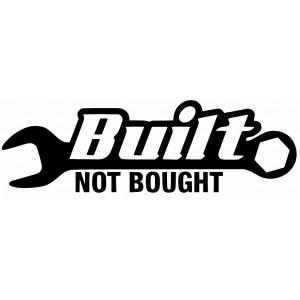 Build not Bought стикер JDM