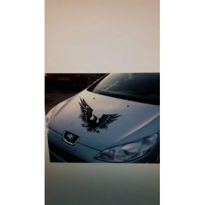 Стикер, лепенка за преден капак Гарван с разперени криле