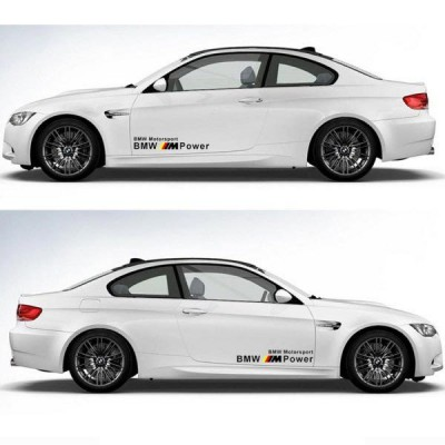 2 броя стикери BMW M POWER MOTOR SPORTS