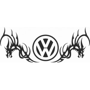 Два дракона и логото на VW