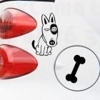 Стикер за капачка на кола Куче с кокъл