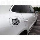 Стикер за капачка на кола Вълк