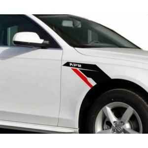 2 APR стикера за странични калници винилови лепенки за Ауди, BMW, VW
