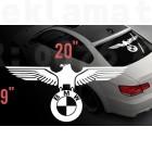 BMW немски орел стикер за задно стъкло, винилов стикер