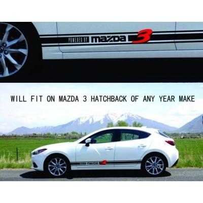 Тунинг, състезателни ленти, стикер , Mazda 3 Sports Hatchback 2006 2007 2008 2009 до 17