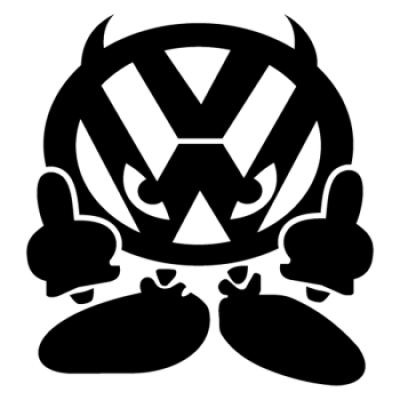Стикер Дявол VW Demon