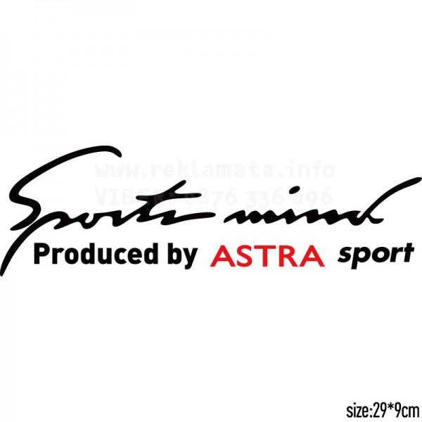 Sport mind стикер за преден фар, тунинг, състезателен, автомобил , кола, Астра, Опел