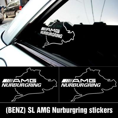 Два броя стикери за мерцедес  AMG NURBURGRING едноцветен