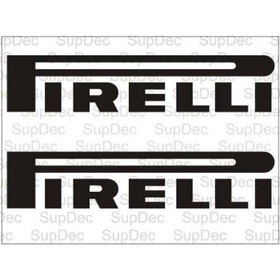 Два броя стикери Pirelli,  състезателни марки за автомобили