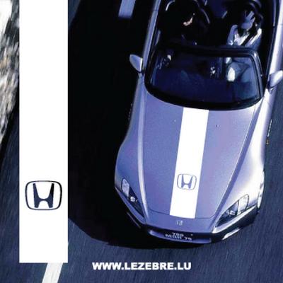 Състезателна лента за преден капак за Хонда, Honda