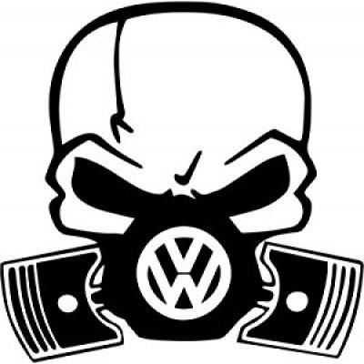 Череп с противогаз vw лого