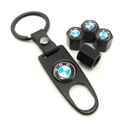 Сет от 4 капачки за винтил и ключодържател за BMW