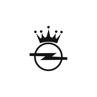 Стикер Opel Лого с корона