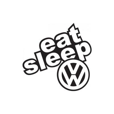 EAT SLEEP - JDM забавен стикер за автомобил Volkswagen