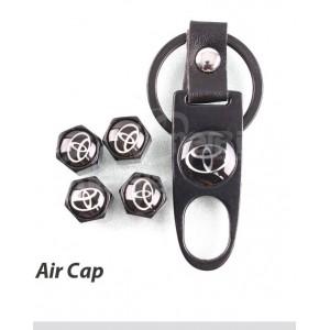 Комплект ключодържател + 4 броя капачки за винтил Тойота