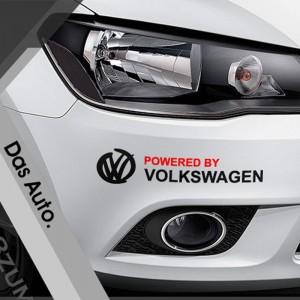 Два стикера Das Auto и  Powered by Volkswagen