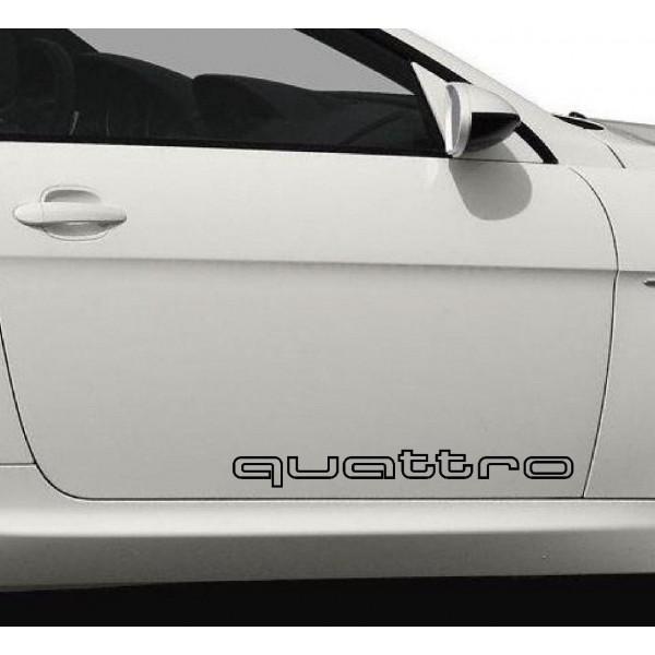 2 броя стикери quattro за всички модели Ауди