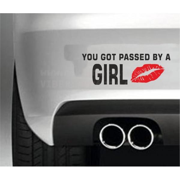 Забавен стикер U got passed by a Girl