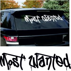 Most Wanted  стикер за задно стъкло